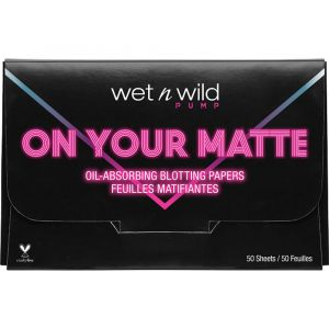 Wet n Wild On Your Matte Oil Absorbing Blotting Papers (50 Sheets) (1 pcs)