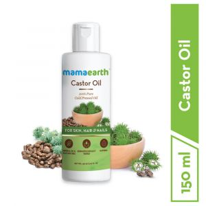 Mamaearth Castor Oil 100% Pure Cold Pressed Oil For Skin- Hair & Nails (150ml)