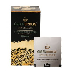Greenbrrew Decaffeinated & Unroasted Strong Green Coffee 20 Sachets (20 Sachets)